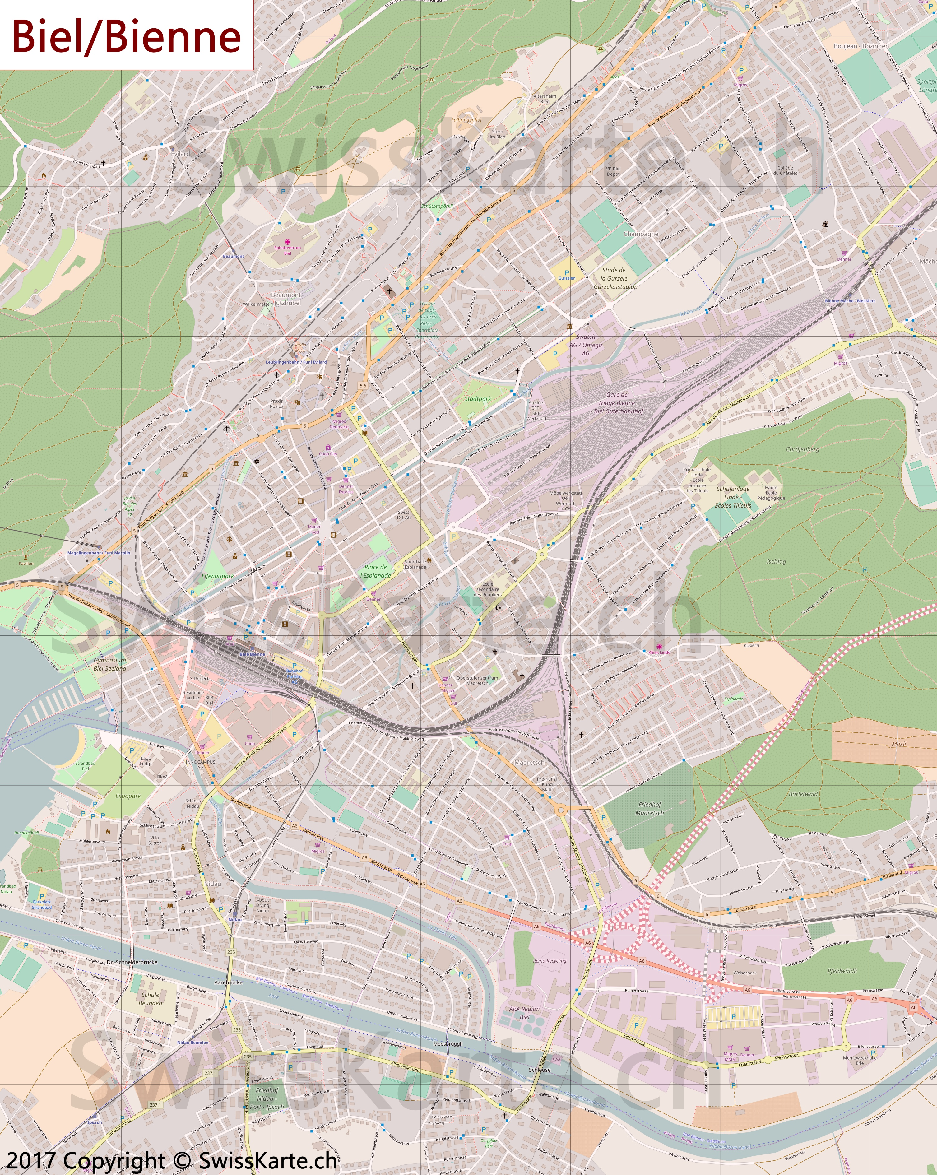 Map of BielBienne SwissKartech