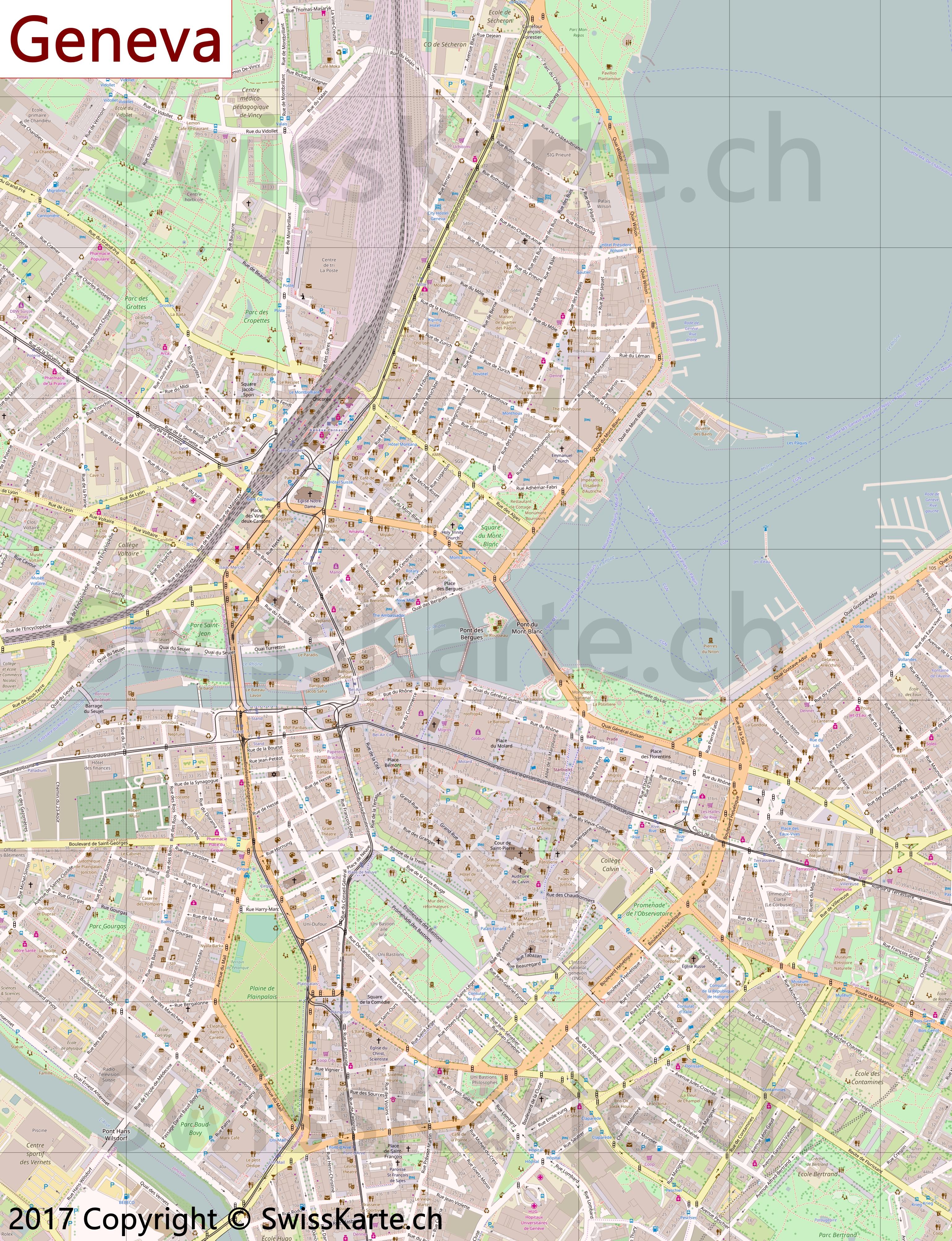 Map of Geneva - SwissKarte.ch