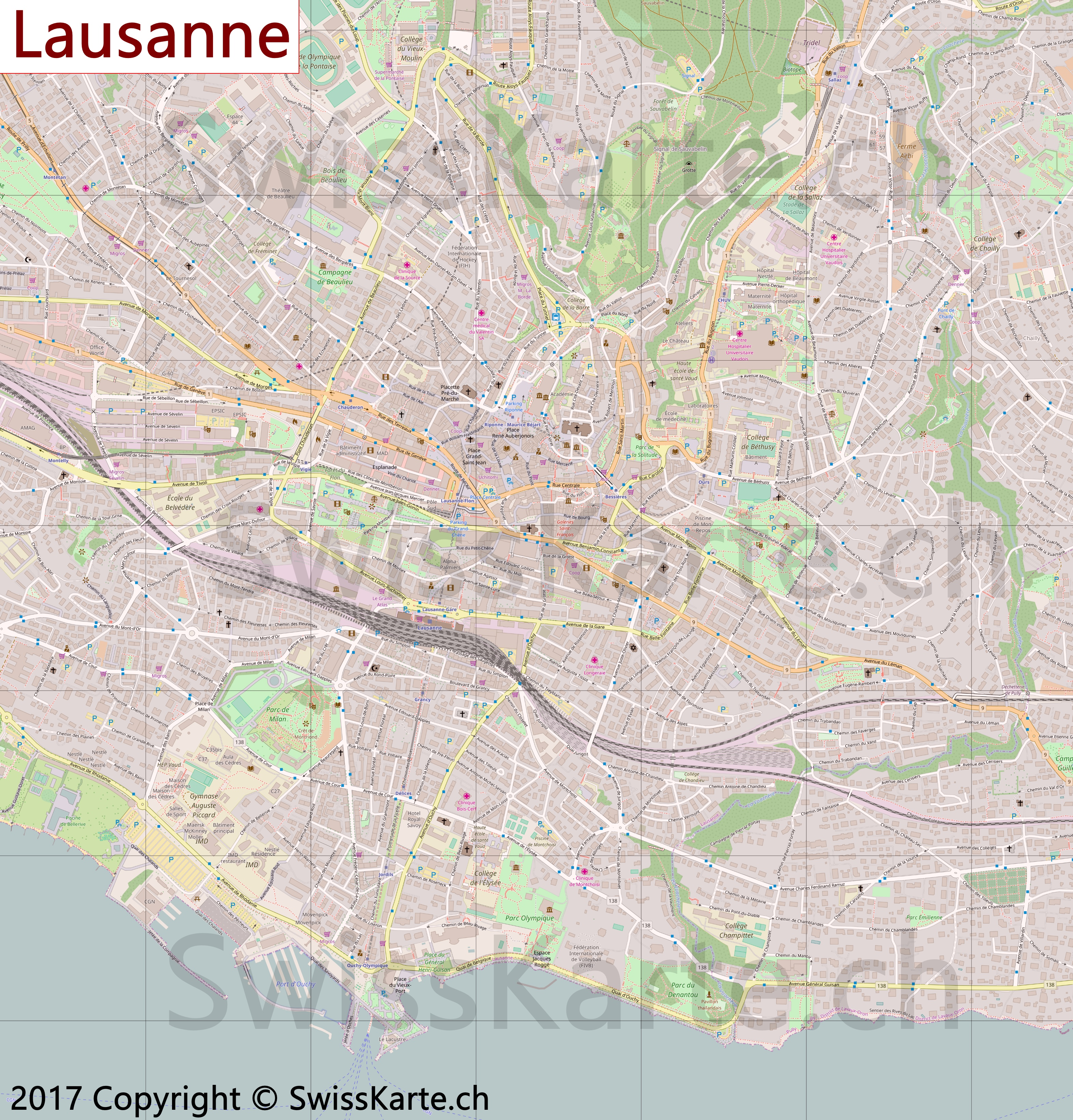 Map of Lausanne SwissKartech