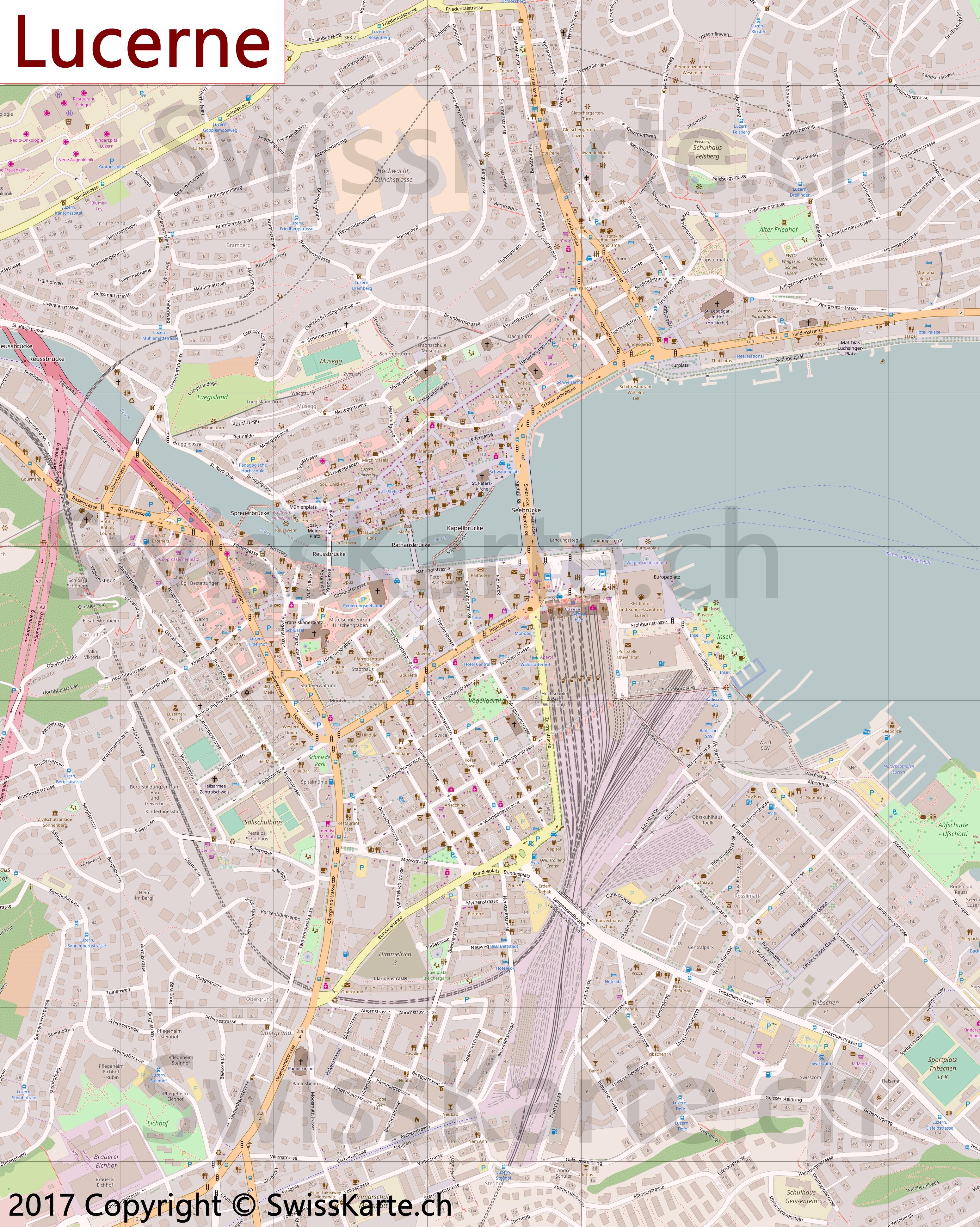 Map of Lucerne SwissKartech