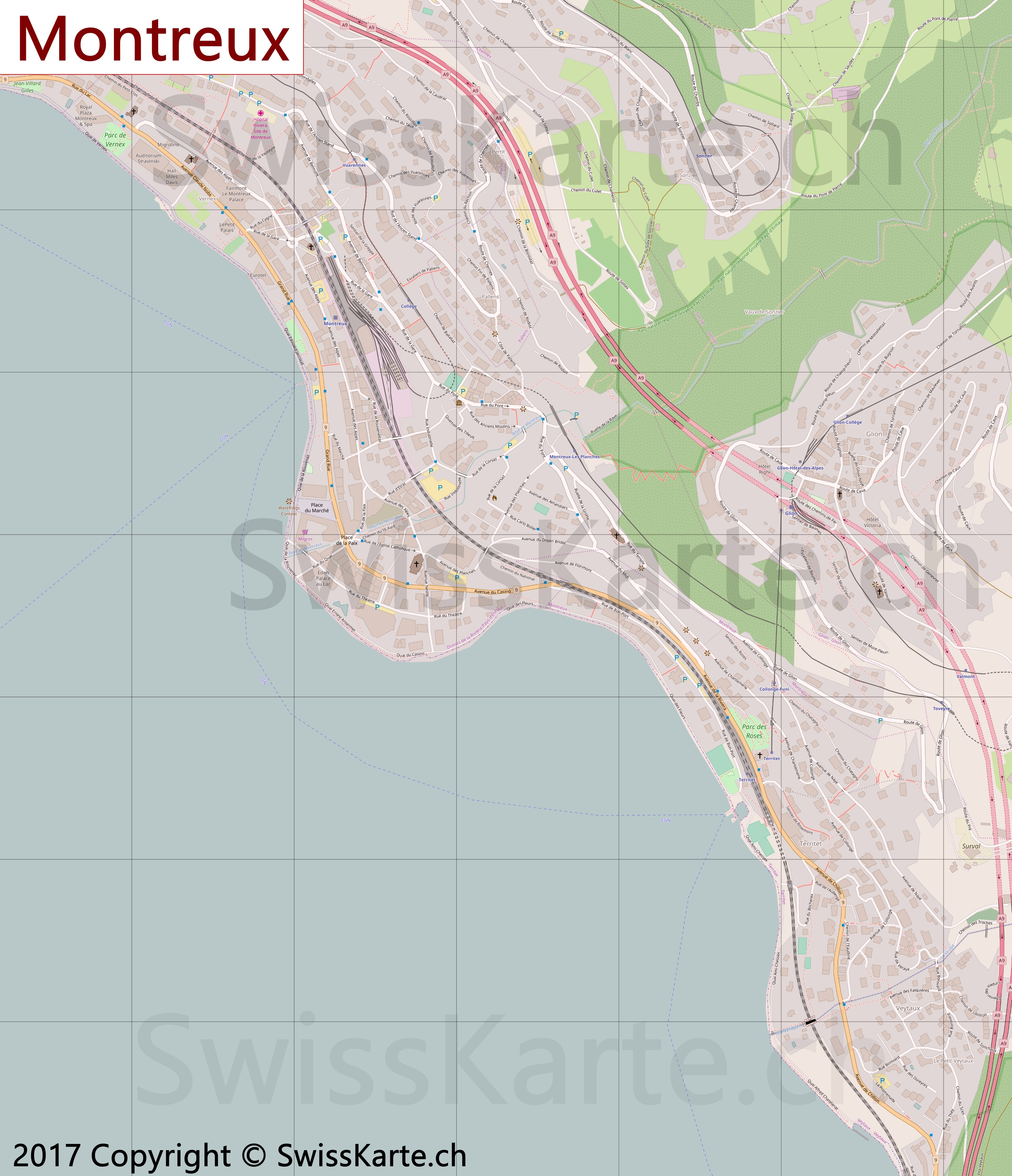 Map of Montreux SwissKartech