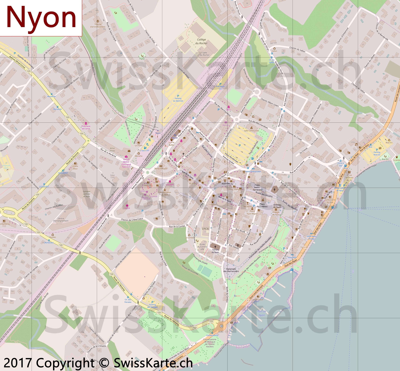 Map of Nyon SwissKartech