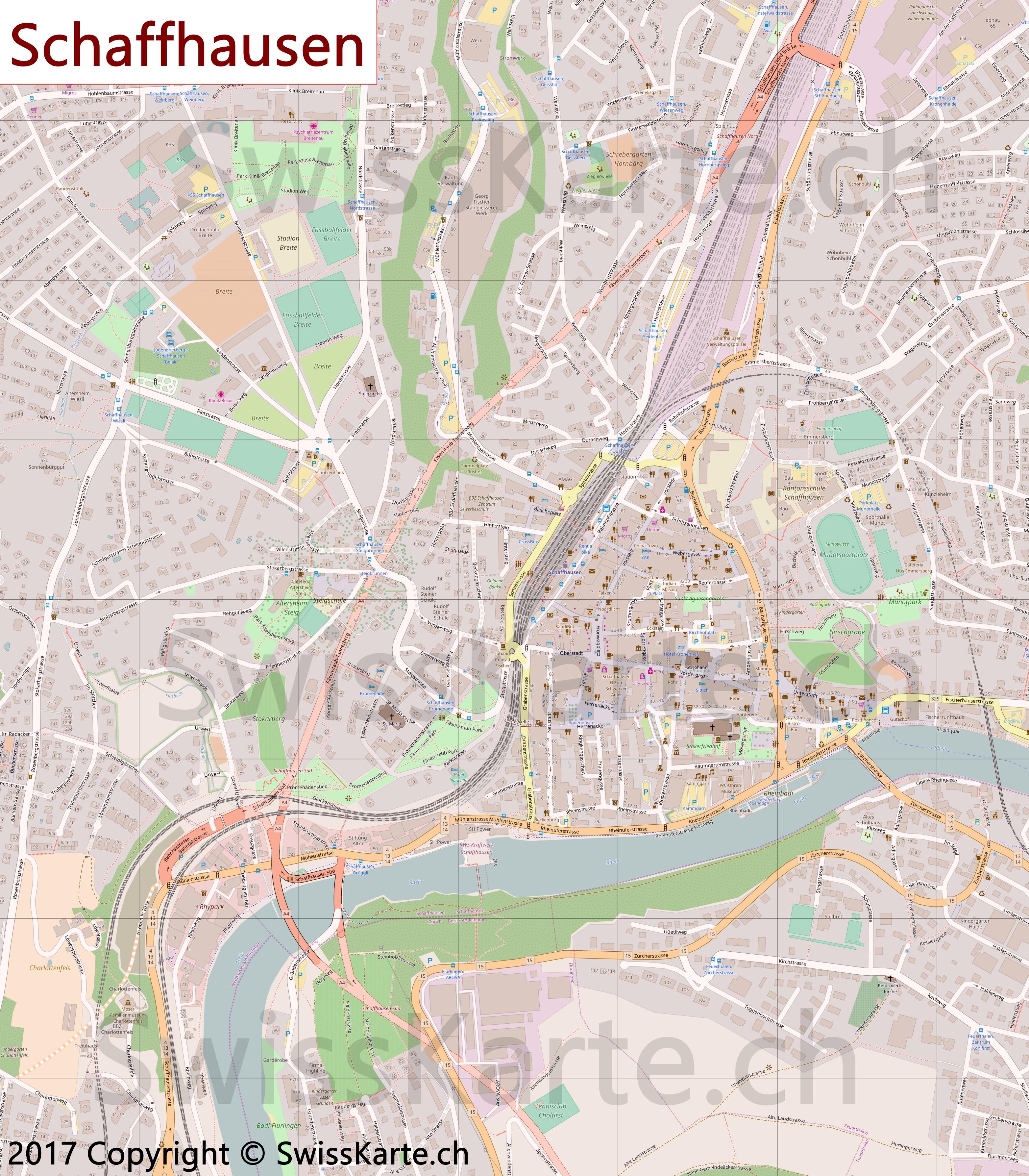 Map of Schaffhausen SwissKartech