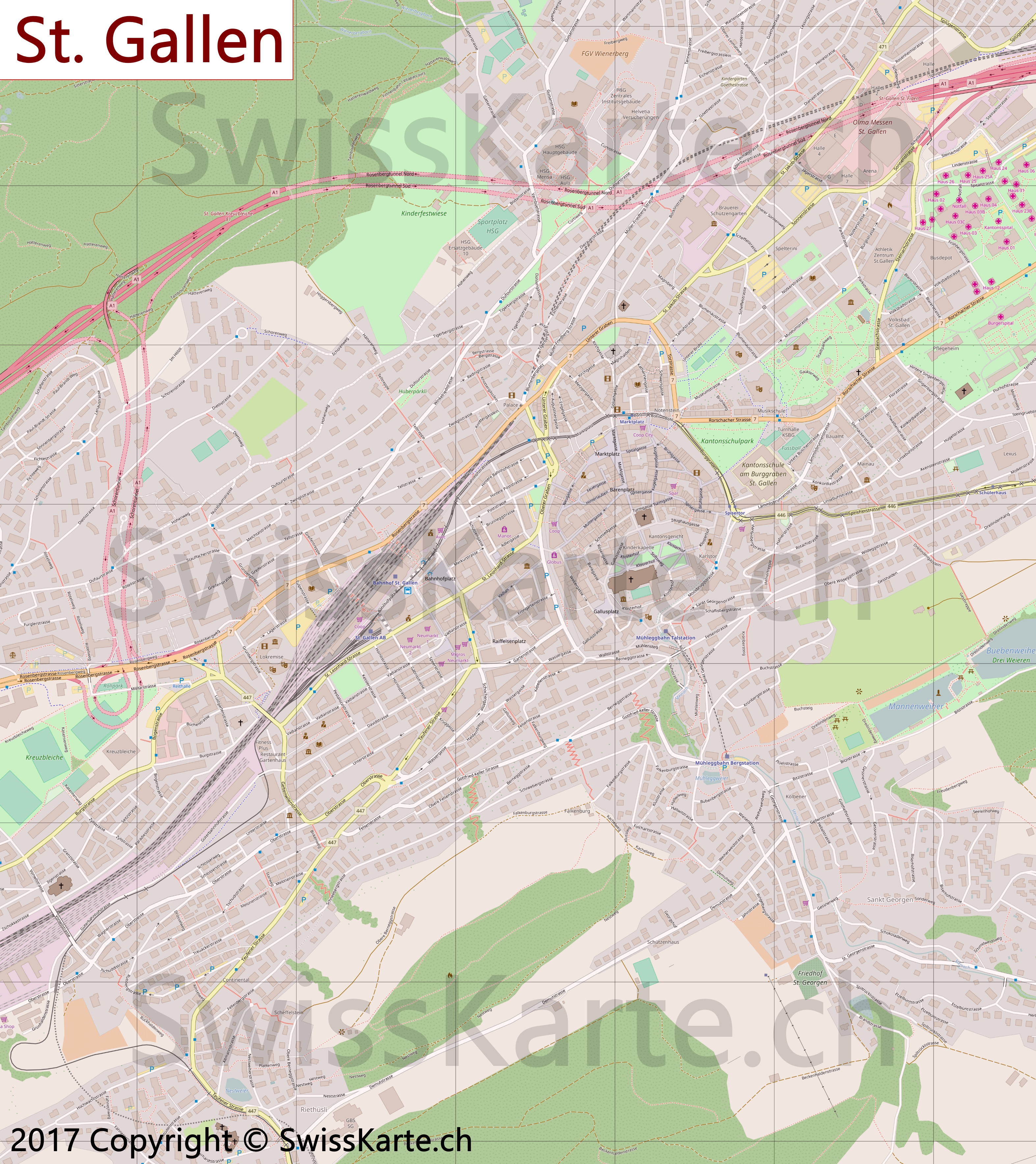 Map of St Gallen SwissKartech