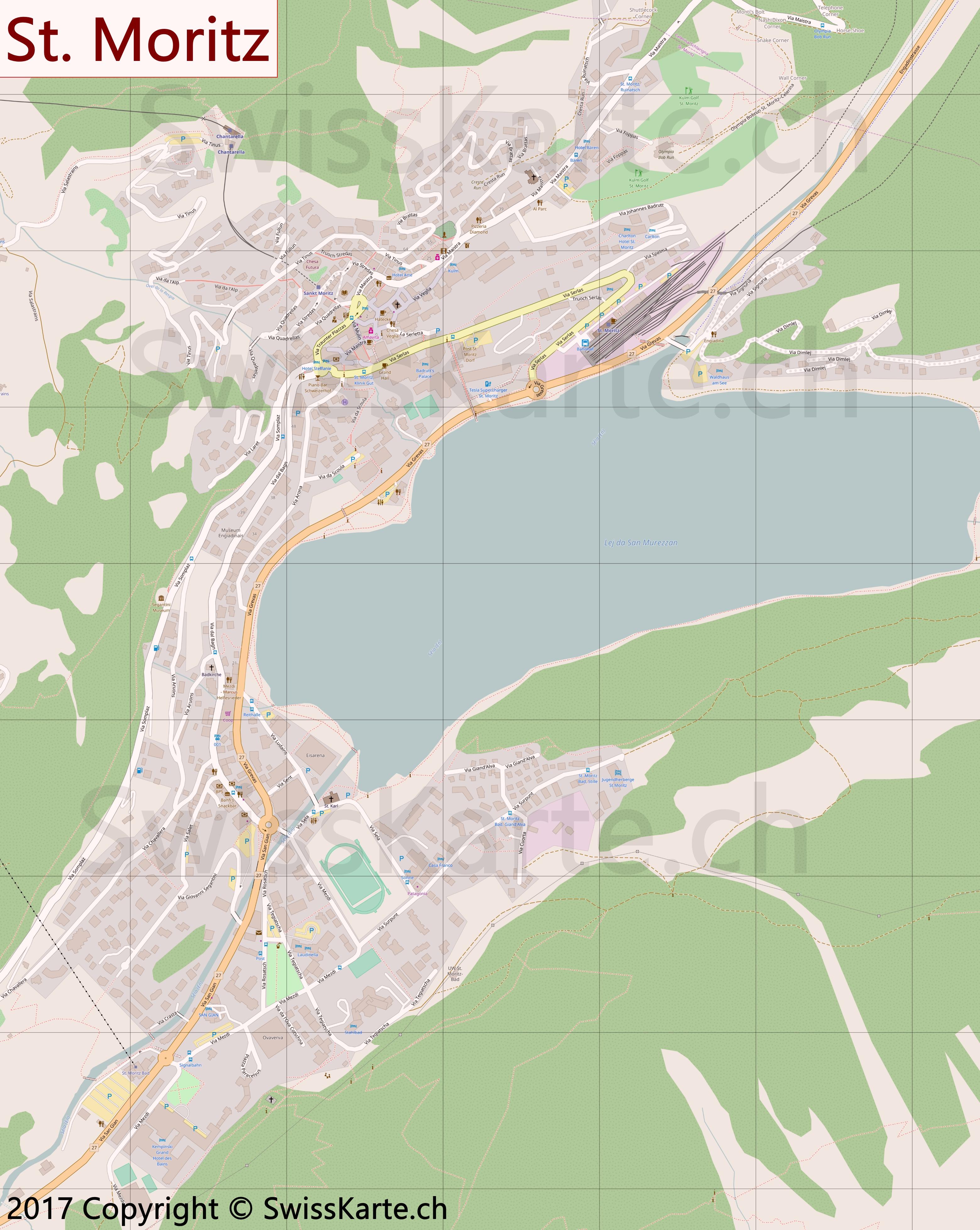 Map of St Moritz SwissKartech