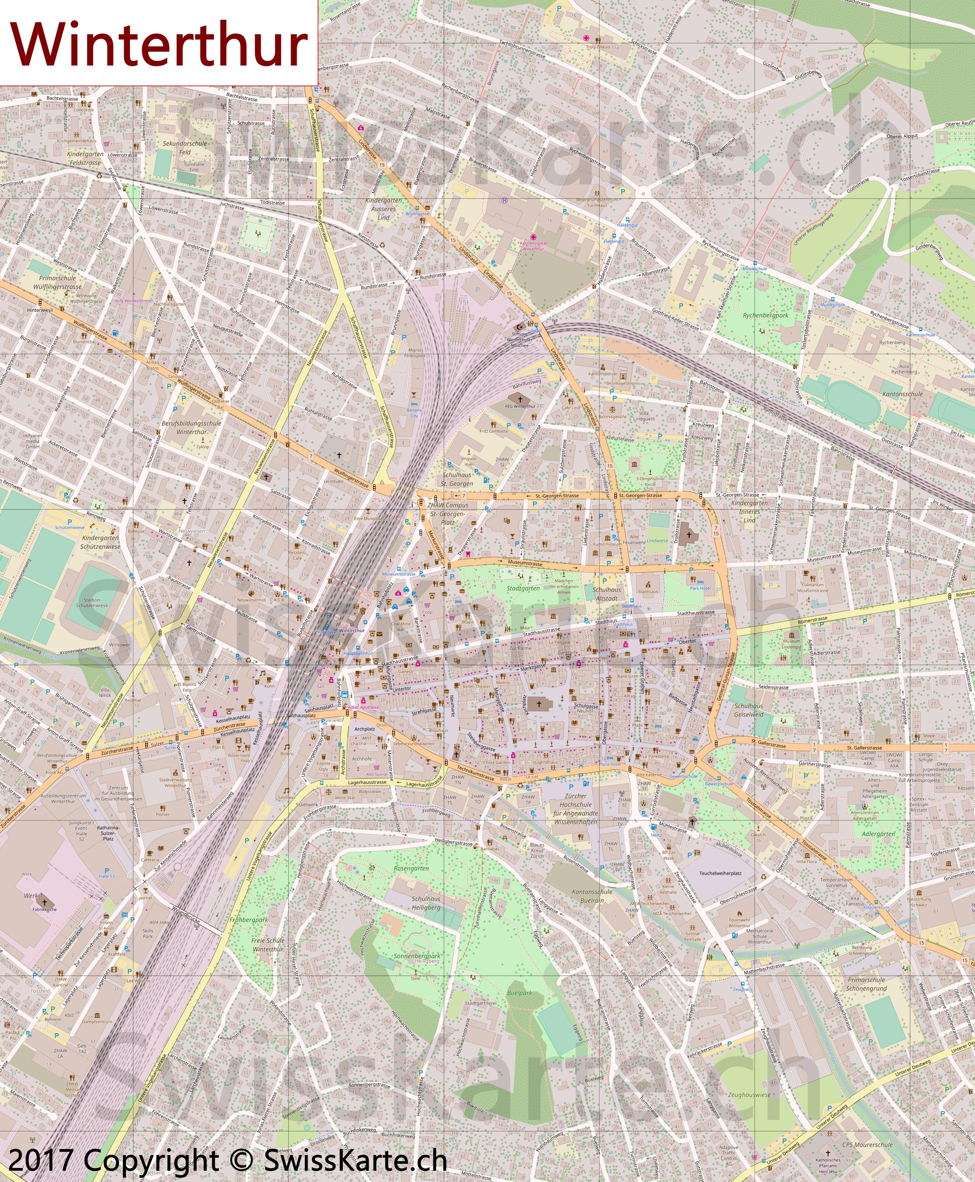 Map of Winterthur SwissKartech