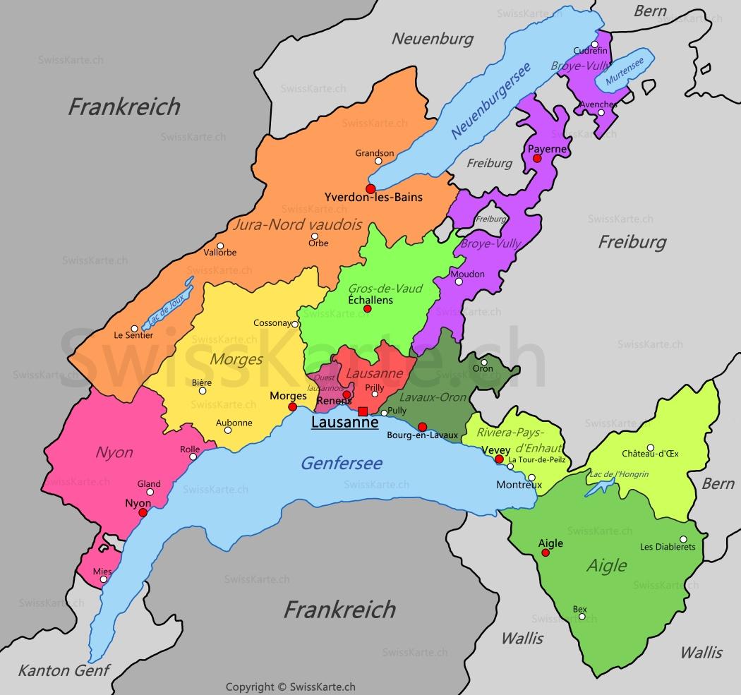 Carte Villes Nord Ouest