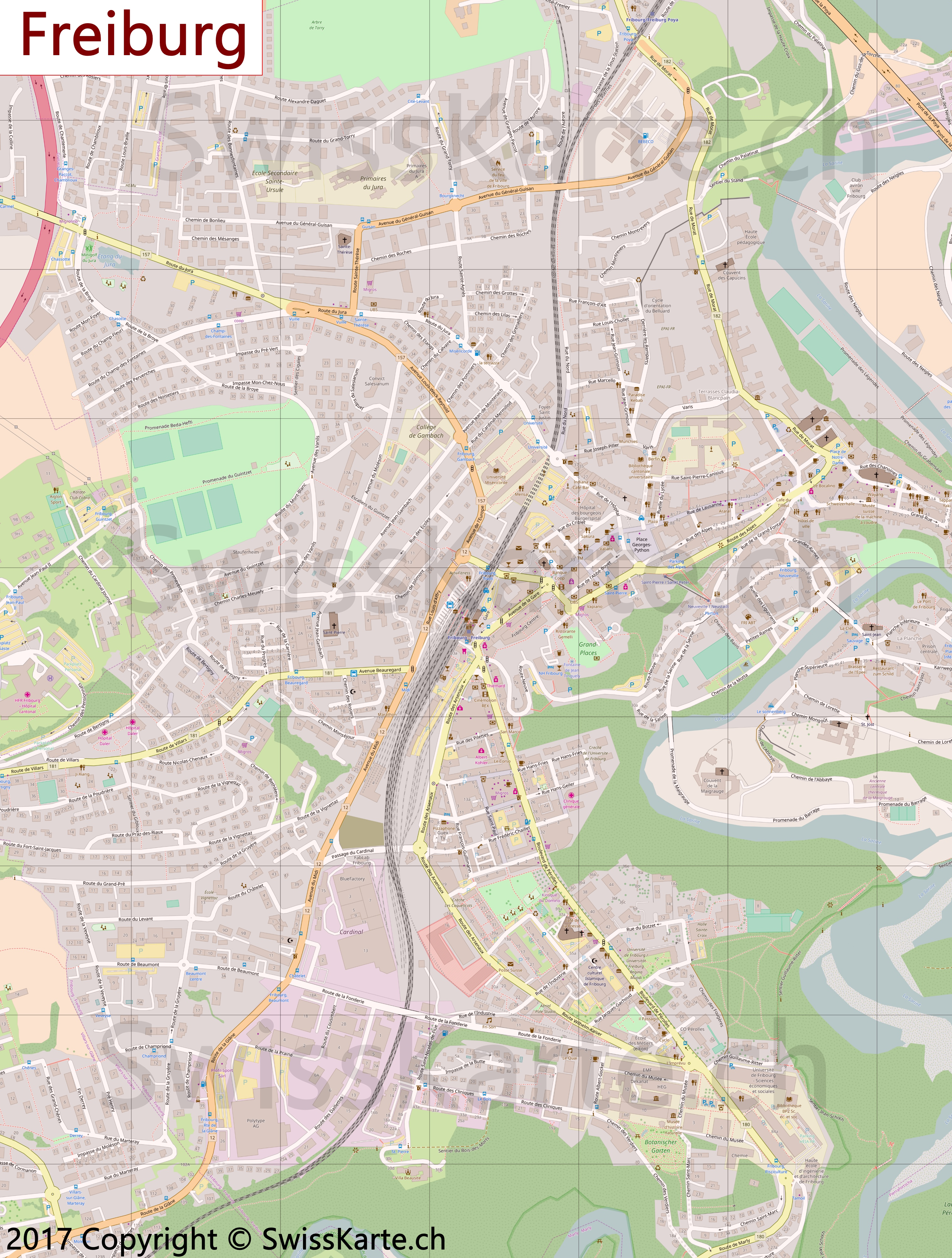 Freiburg Karte.Stadtplan Freiburg Swisskarte Ch